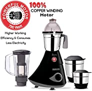 Inalsa Inara Mixer Grinder-780W with 4 Jars, (3 Stainless Steel Jars & 1 Blender Jar with Fruit Filter),(B