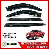 Mitsubishi L200 Fenster VENT VISOR Deflektor Schatten Sonnenblende Sun GUARD schwarz 5-15