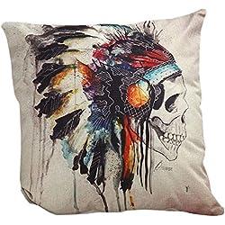 Fundas Cojines,Xinan Almohada Caso Cubierta Amortiguador Decorativo Calavera Skull Halloween