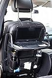 Auto Rückenlehnenschutz mit Tisch von ROSENBORG Schulte I Autositz Organizer mit Halter für Tablet I 60 cm x 43 cm schwarz