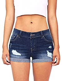 Sommer Hot Pant,HUYURI Frauen Low Waisted Washed Ripped Mini Jeans Shorts