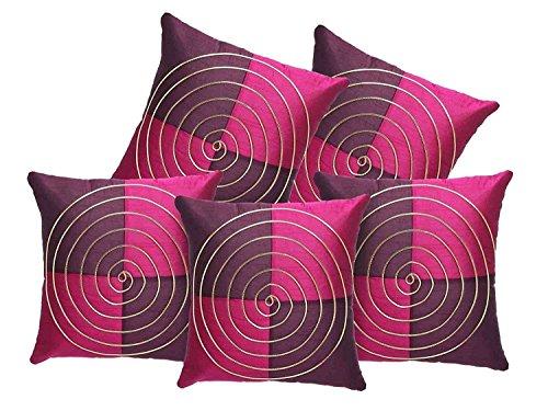 Decor Studioz Multi Colour Cushion Cover (24 x 24 inches) Set of 2 Pcs