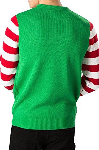 Unisex Elf Pulli Threadbare Montreal 3D Neuheit Pullover Weihnachten Strickwaren Montreal Elfen Grün