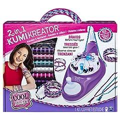 Idea Regalo - Cool Maker KumiKreator 2 in 1, macchina per creare braccialetti dell'amicizia e collane, dagi 8 anni in su, Multicolore, 6053898-1