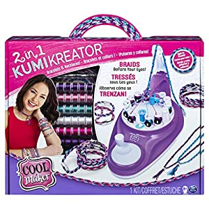 Spin Master Kumi Cools Cool Maker - Kumi Kreator Studio (2 in 1) - Kits de joyería para niños (Pulsera, 8 año(s),, Niño, Chica, China)