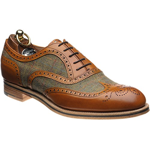 Hareng Bodmin II mollet et Tweed Marron multicouleur - Chestnut Calf and Tweed