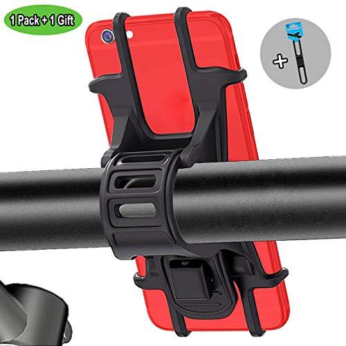 Bothink Supporto Bici Smartphone, Porta Cellulare Bici Supporto Manubrio Universale Bici Moto Porta Telefono per iPhone Samsung 4'-6' Smartphones (Nero 1+1)