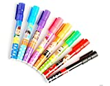 #7: KABEER ART Set Of 8 Assorted Colors Easy-To-Wipe Dry-Erase Drawing Coloring Whiteboard Marker Pens