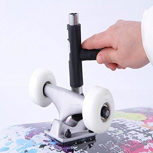 Multifunktionale Skateboard Scooter T-Form-Einstellwerkzeug Farbe Grôn
