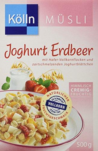 Kölln Müsli Joghurt Erdbeer, 7er Pack (7 x 500 g) - Vollkorn Erdbeere