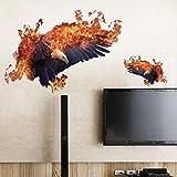 Weaeo Cartoon Fire Eagle Tier Kinder Baby Schlafzimmer Wall Sticker Für Kinder Zimmer Hawk Wand Gemalt Tatoo Home Decor Art Aufkleber Poster