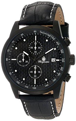 Burgmeister Armbanduhr für Herren mit Analog-Anzeige, Quarz-Uhr und Lederarmband - Wasserdichte Herrenuhr mit zeitlosem, schickem Design - klassische Uhr für Männer - BM607-620E Maui