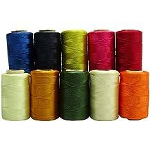 Multicolora máquina de acolchado de 10 rolls stitching hilo de seda de seda