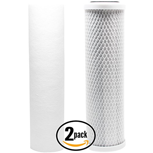 Replacement Filter Kit for Watts WP-2 LCV RO System - Includes Carbon Block Filter & PP Sediment Filter - Denali Pure Brand by Denali Pure
