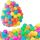 Saint-Acior 100 bunte Bällebad Bälle mit Ø 5,5 cm Ball Durchmesser Ozean Bälle Bunte Weiche Plastik Kinder sichere Ozean-Kugeln Bällebad Plastikbälle spielzeug