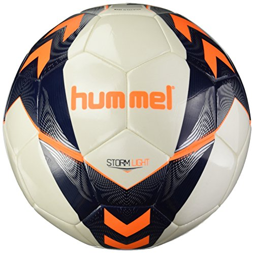 hummel Erwachsene Storm Light FB Fussball, White/Vintage Indigo/Orange, 5
