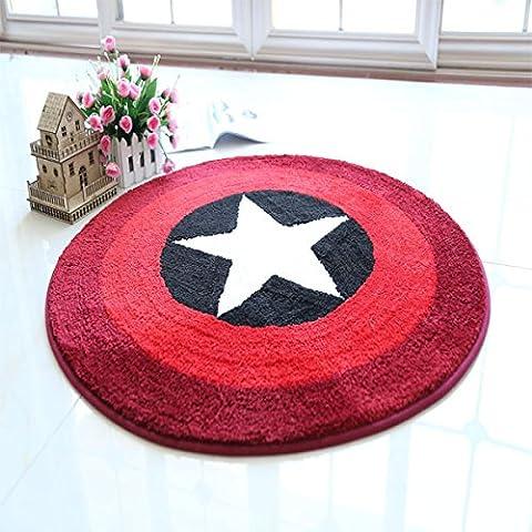 Lavabile in lavatrice circolare del calcolatore della sedia in pelle scamosciata anti - Skid tappeto del salotto camera da letto tappeto con carrello Coat spogliatoio Carpet ( colore : #1 , dimensioni : 1.4*1.4m )