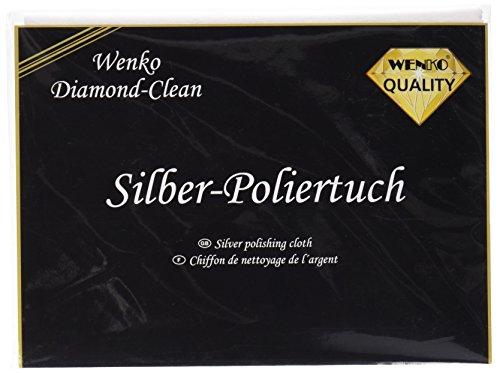 Wenko 8035004500Tuch Bohrer für Silber, Baumwolle, Weiß–[Pack 2]