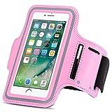 Apple iPhone Jogging Tasche Handy Hülle Sportarmband Fitnesstasche Lauf Case Bag, Farben:Rosa, Smartphone:Apple iPhone 6s / 6
