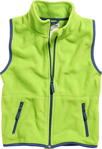 Playshoes Kinder Fleeceweste farbig abgesetzt Weste, (grün 29), 116