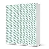 creatisto Aufkleber IKEA Pax Schrank 236 cm Höhe - 4 Türen/Design Folie Triangle Pattern - Pastellgrün/Möbeldekoration
