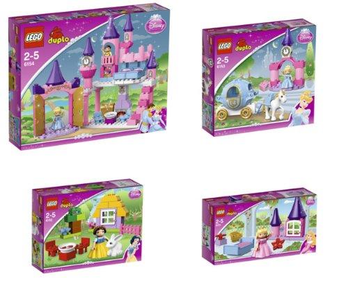 Preisvergleich Produktbild LEGO DUPLO PRINCESS Super Set - 6151 + 6152 + 6153 + 6154