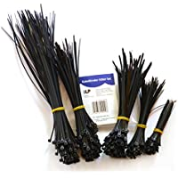 Abrazaderas de cables iLP - set de 500 unidades - 100x100/150/180/200/300 mm - Abrazaderas multiusos para la sujeción estable y duradera de mazos de cables - Resistente a los rayos UV