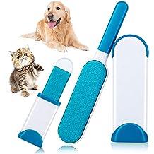 DAMIGRAM Cepillo De Eliminación De Pelo De Mascotas con Auto-Limpieza Base Reutilizable Pet Cepillo