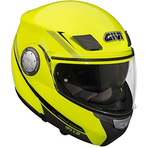 Casco amarillo moto mujer, Casco Modular, Amarillo Neón, Talla 54/XS