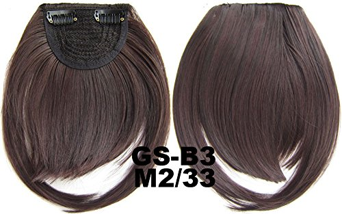 # 2 _ 33 m 100% fibre synthétique haute température Clip dans/sur cheveux avant frange frange cheveux