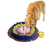 Pet Sniffing Pad Waschbar Hund Runde Trainingsdecke Futtermatte Piecing Multi-Color