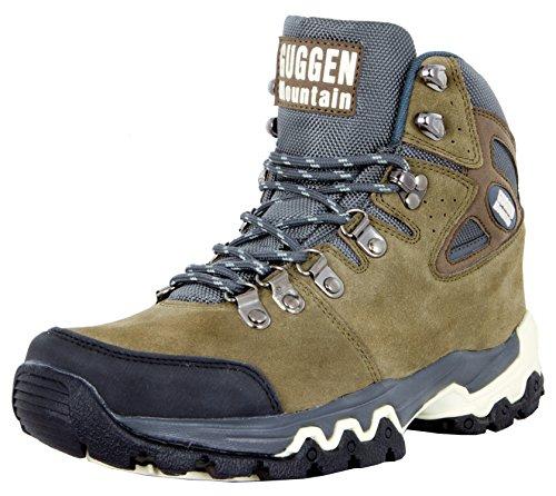 GUGGEN Mountain M008v2 Herren Bergschuhe Wanderschuhe Wanderstiefel Outdoor Schuhe Trekkingschuhe, Braun, EU 43