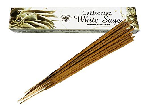 Find Something Different Kalifornischer, weißer Salbei, natürliche Räucherstäbchen von Green Tree (Weißer Salbei-stab)
