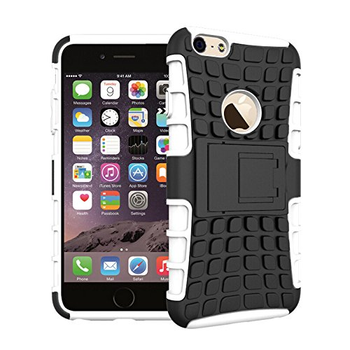 Outdoor Handy Hülle Panzer Case Schutzhülle Cover Silikon Tasche von ZhinkArts für Apple IPhone 6/6S Weiß