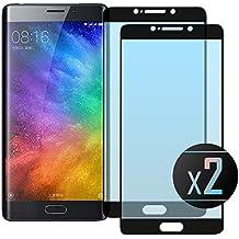 2 x Cristal Templado Protector de Pantalla Para Xiaomi Mi Note 2 (Black)- NEVEQ® Vidrio Templado, el Xiaomi Mi Note 2 Full Screen Black (5.7 in) Pulgadas piel Protectora de la Cubierta.