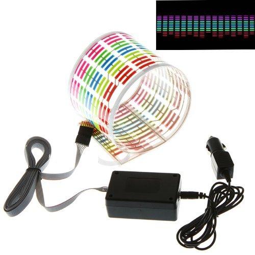 Car Sticker Musica Ritmo Flash LED lampada suono attivato equalizzatore (45x 11)