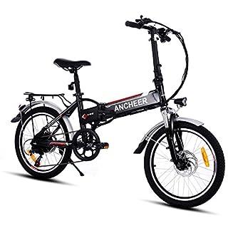 ANCHEER Faltbares E-Bike, Elektrofahrrad Klapprad 36V 250W Mountainbike, Große Kapazität Pedelec mit Lithium-Akku und Ladegerät 20 Zoll