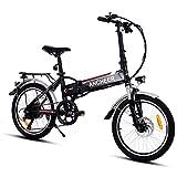 Ancheer Elektrofahrräder E-Bike mit 20 Zoll Klapprad Pedelec Elektrofahrräder mit Lithium-Akku (250W, 36V), 7-Gang Shimano Nabenschaltung