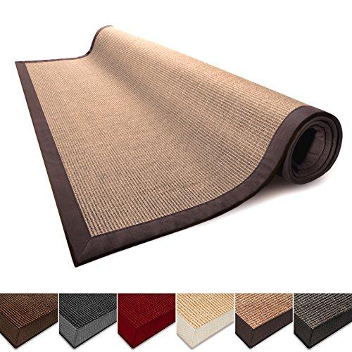 Casa Pura Sisal Teppich Läufer - 100% Naturfaser, rutschfest, rustikaler Eingangs-Teppich, Wohnzimmer-Teppich oder Küchen-Teppiche und Größen, Natur 2.5' x 12' Cork - Teppich Wieder Gummi Läufer