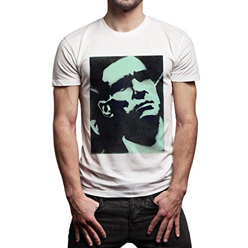 Snatch Movie Brad Pitt Banksy Side Painting Background Herren T-Shirt Weiß