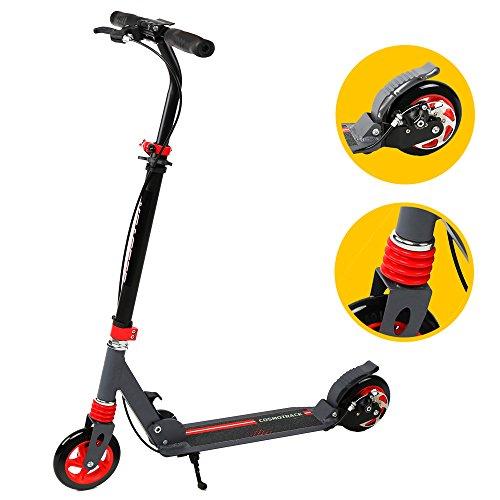 Scooter, banne 2roues réglable en hauteur pliable et léger Kick Scooter avec barre en T et facile Fold-n-carry Motif à partir de 6pour enfants et pour adultes Prend en charge Capacité de 69,9kilogram