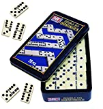 Traditional Games Double Six Dominoes Game - 28PC Double 6 Dominoes Set In A Tin