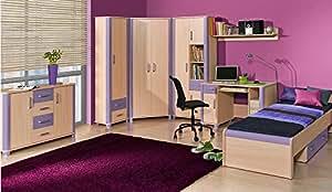 Jugendzimmer kinderzimmer komplett palermo set c for Jugendzimmer amazon