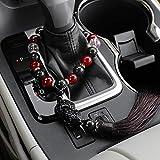 Adornos para coche con diseño de Buda con tréboles frenos, espejo retrovisor para el interior del coche, para colgar, decoración, accesorios de regalo, color dorado