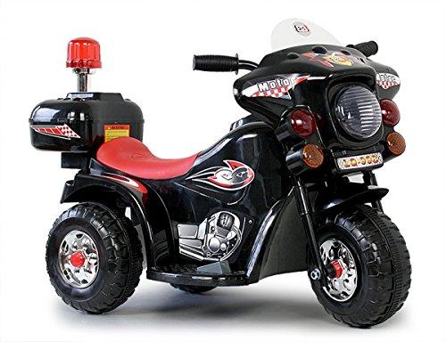 Preisvergleich Produktbild Kinder Motorrad Elektrofahrzeug Polizei Bike Kindermotorrad Elektromotorrad (Schwarz)