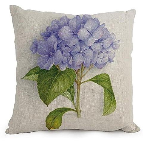 uloveme la flor manta de fundas de almohada de, 18x 18pulgadas/45por 45cm decoración, regalo para asiento de coche, sala de estar, cama, interior, esposa, casa (ambos lados)