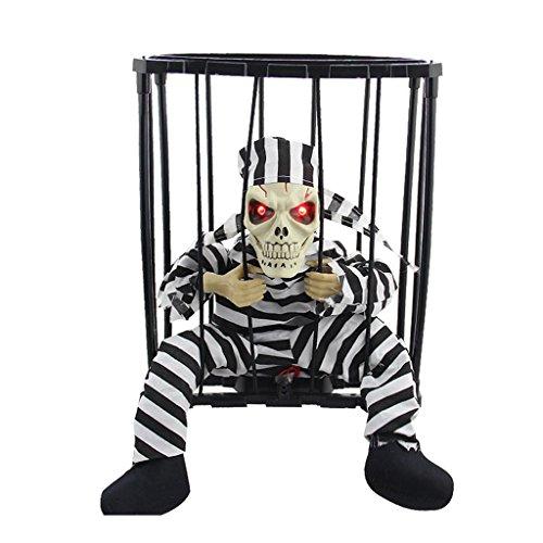 QAR Decoración De La Escena De Halloween Bar Accesorios Divertidos Resplandor Fantasma De La Jaula De Terror Asustadizo De Terror Halloween