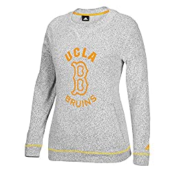NCAA UCLA Bruins Womens Campus Slouchy Crew Top, XX-Large, Grey