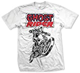 Marvel Comics Ghost Rider T-Shirt, Blanc, Large Homme