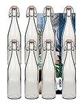 10 Glasflaschen 500ml Typ A mit Bügelverschluss zum Selbstbefüllen inklusive